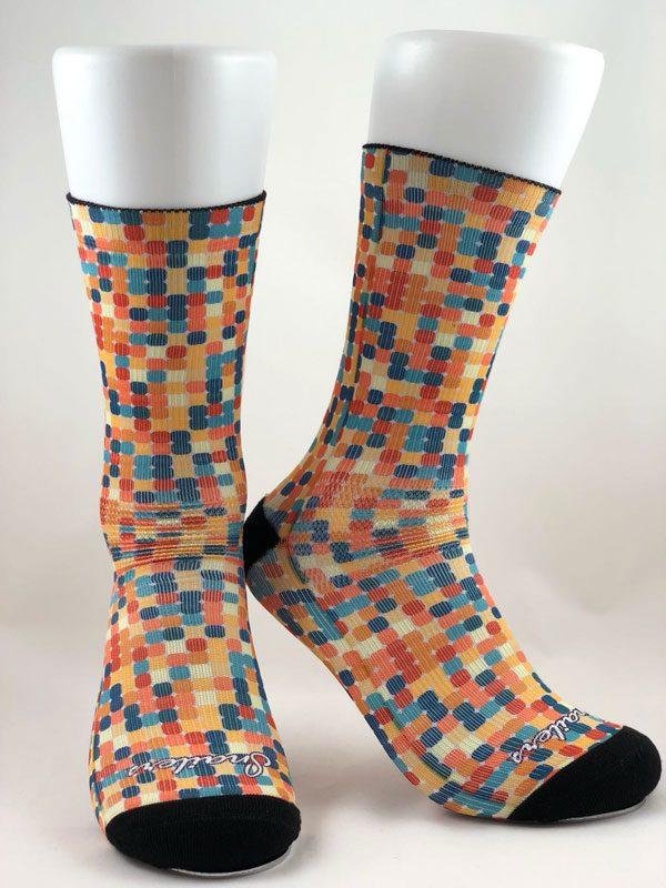 Calcetines mosaico de colores